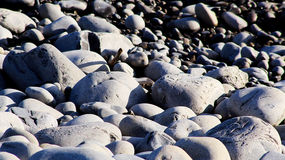 Pebble beach. The Knap pebble beach in Barry next to Barry Island Stock Photo