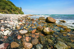 Pebble beach landscape Stock Image