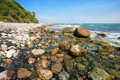 Pebble Beach landskap Fotografering för Bildbyråer