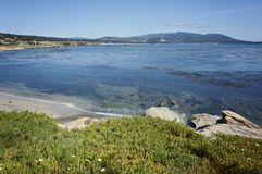 Pebble Beach le long de la baie de Monterey photographie stock libre de droits