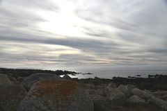 Pebble Beach 17 mil drev, Kalifornien, USA Arkivbild