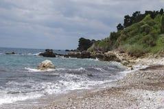 Pebble beach in Montenegro. Landscape. Stock Images