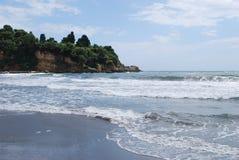 Pebble beach in Montenegro. Landscape. Stock Photos