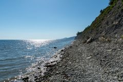 Pebble Beach nahe dem Schwarzen Meer stockfotografie