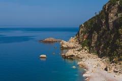 Pebble Beach nahe Perazica tun, Montenegro Lizenzfreie Stockfotografie