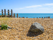 Pebble beach near Eastbourne Stock Photo
