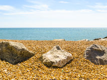 Pebble beach near Eastbourne Royalty Free Stock Images