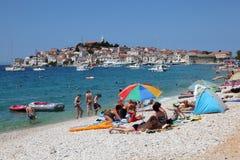 Pebble Beach nel Croatia Immagini Stock Libere da Diritti