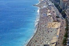 Pebble Beach in Nizza lizenzfreies stockbild