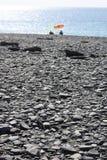 Pebble Beach noir Photo stock