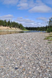 Pebble beach North of the river. Stock Images