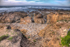 Pebble beach Ocean side  HDR, california Stock Images
