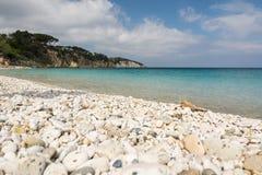 Pebble Beach på Elba i Italien Royaltyfri Bild