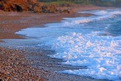 Pebble Beach på Grekland Arkivfoto