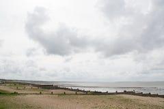 Pebble Beach på Whitstable Arkivbild