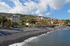 Pebble beach in Santa Cruz, Madeira island, Portug Royalty Free Stock Photography