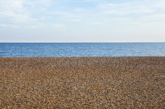 Pebble Beach and Sea in Hastings Royalty Free Stock Photo