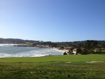 Pebble Beach 18th hole Royalty Free Stock Images
