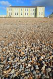 Pebble beach in town of Seaton. In East Devon on the Jurassic Coast Stock Images