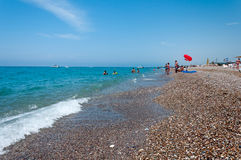Pebble beach in  Turkey Stock Images