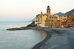 Pebble Beach in the Village of Camogli Stock Image