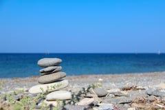Pebble beaches of the Aegean Sea on the island of Kos. In Greece stock photo