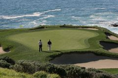 Pebble- Beachgolflinks, calif Lizenzfreies Stockfoto