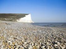 Pebble- Beachhintergrundsussex-Küste England Lizenzfreies Stockfoto