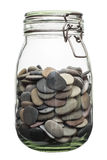 Pebble canned in a jar. Stock Images