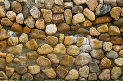 Pebble cement wall texture background Royalty Free Stock Photo