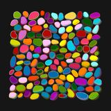 Pebble colorful background for your design Stock Photos