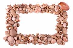 Pebble frame Stock Image