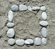 Pebble frame Royalty Free Stock Image