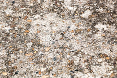 Pebble gravel in concrete stock image