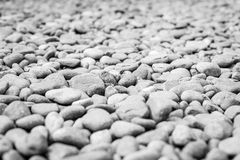 Pebble heap as abstract natural background. Stock Images