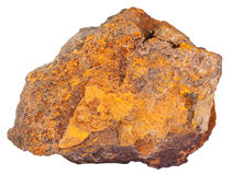 Pebble of limonite (iron ore) mineral stone Stock Photography