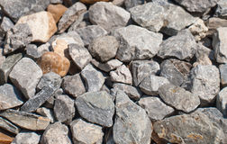 Pebble. Mix of brown and grey pebble background Stock Image