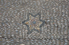 Pebble mosaic star Royalty Free Stock Photos