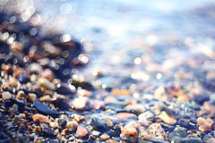 Pebble på strand Royaltyfri Foto