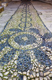 The pebble path in Harem of Topkapi Palace, Istanbul Royalty Free Stock Image