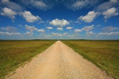 Pebble path on meadow Stock Image