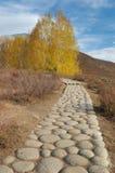 Pebble Pavement. Photo in Hemu Village, Northern Xinjiang, China October, 2007 Royalty Free Stock Photos