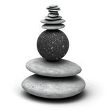 Pebble pile. Pebbles stack over a white background stock images