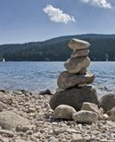 Pebble pile at summer time Stock Images