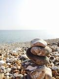 Pebble pillar Royalty Free Stock Photos