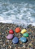 Pebble rainbow Stock Images