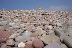 Pebble and rocks beach of Mulrany in Ireland Stock Photography