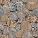 Pebble Rocks Seamless Tile Background Royalty Free Stock Images