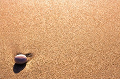 Pebble on the sand Royalty Free Stock Photography