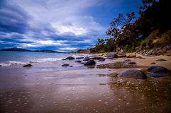 Pebble sand beach near Hobart, Tasmania, Australia. Beautiful pebble sand beach near Hobart, Tasmania, Australia Stock Photography